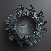 Abstract 3D Globe