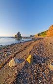 Ocean Rocks On A Gravel Beach