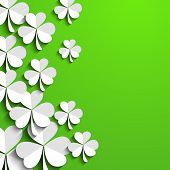 Irische Kleeblatt Laub Background für Happy St. Patrick's Day. EPS 10.