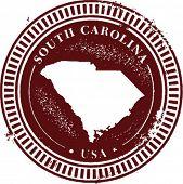 Vintage South Carolina USA Stamp