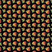 Vector leaf pattern.