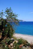 Burriana beach, Nerja, Andalusia, Spain.