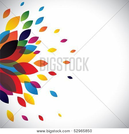 Colorful Flower Petals Of A Beautiful Flower As Background poster