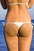 Woman Buttocks In White Bikini