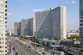 MOSCOW - MAY 10: New Arbat Street, on May 10, 2013 in Moscow, Russia. Highway, called the New Arbat,