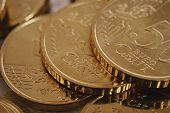 Euro Coins Piled Isolated