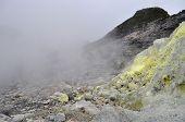 Sulfur In Sibayak Volcano
