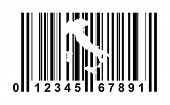 Italy shopping bar code isolated on white background.