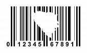 Bosnia and Herzegovina shopping bar code isolated on white background.