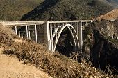 stock photo of bixby  - The Bixby Bridge on the west coast of California in Big Sur.