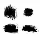 Abstract Paint Brush Strokes