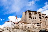 Leh Monastery Looming Over Medieval City Of Leh