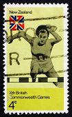 Postage Stamp New Zealand 1974 Hurdles, 10Th Commonwealth Games,