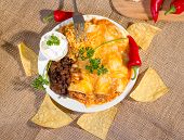 Southwest Beef Enchilada.