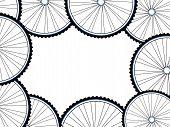 Bicycle Wheels Background, Wheel Set Isolated On White