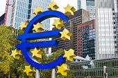 FRANKFURT - OCTOBER 4: The Euro Sign October 4, 2013 in Frankfurt, Germany. The sign is part of Euro