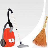 Vacuum cleaner and broom