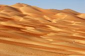 image of straddling  - Photographing abstract patterns in the dunes of the Rub al Khali or Empty Quarter - JPG