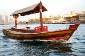 Dubai, Uae - September 10: The Traditional Abra Boat In Dubai Creek On September 10, 2013 In Dubai,