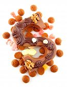Decorated Chocolate Letter S For Sinterklaas