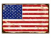 American Flag Enamel Sign