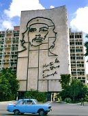 Ministry Of The Interior Building With Che Guevara's Portrait