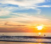 pic of southern  - San Diego Sunset at La Jolla Shores San Diego - JPG