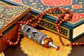 Muslim Rosary On The Koran