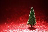 foto of shimmer  - Christmas tree background - JPG