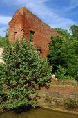 Old Brick Wall Ruin