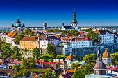 Skyline of Tallinn, Estonia at the old city.
