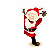 santa claus cartoon greeting card