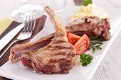 grilled lamb chop and puree