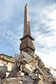 picture of obelisk  - ROME ITALY  - JPG
