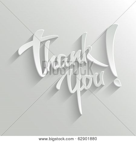 Thank You Lettering Greeting Card poster