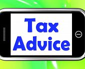foto of irs  - Tax Advice On Phone Showing Taxation Irs Help - JPG