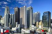 Shinjuku, Tokyo skyscraper district.
