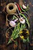 stock photo of sult  - Bunch of fresh rosemary - JPG