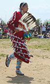 Unidentified female Native American dancer at the NYC Pow Wow in Brooklyn