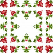picture of bearberry  - Border Frame of Bearberry plant  - JPG