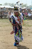 nidentified young Native American dancer at the NYC Pow Wow in Brooklyn