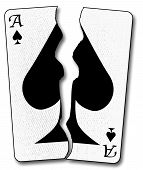 Torn Playing Card