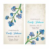 Bridal shower with blue flower ornament
