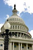pic of lamp post  - The Capitol building and lamp post in Washington DC - JPG