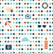 Dot pattern. Seamless summer vacation design.