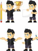Spiky Rocker Boy Customizable Mascot 3