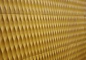 Yellow Paint Corrugated Metal For Textured Background