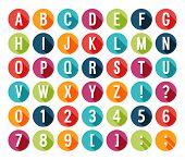 Flat Icons Alphabet.