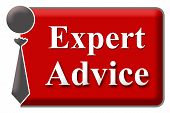 Expert Advice Red Grey Block