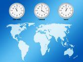 Relojes y mapamundi